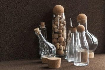 Korkproppar för flaskor